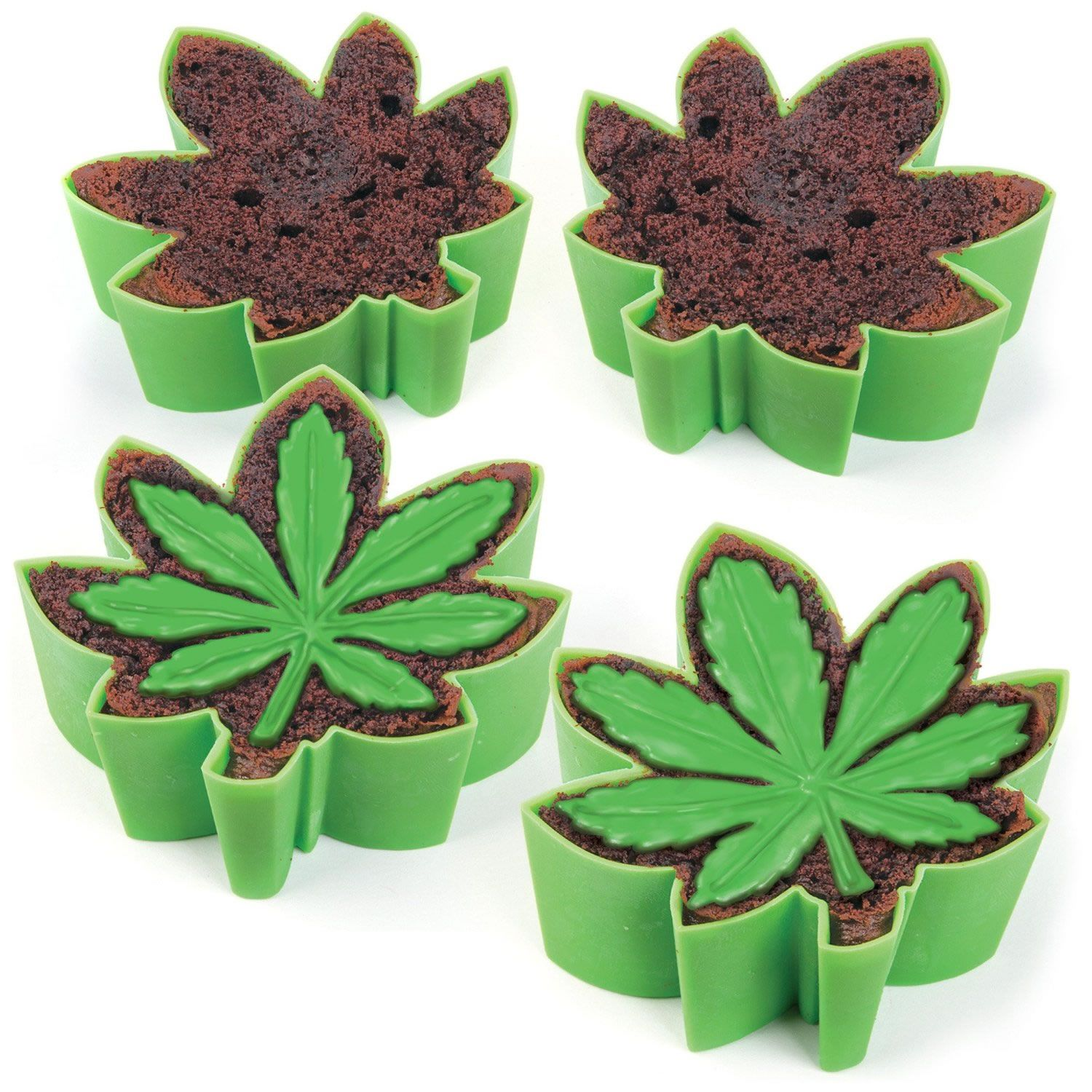 Pot Leaf Blundt Cake Molds For Baking Marijuana Year Round