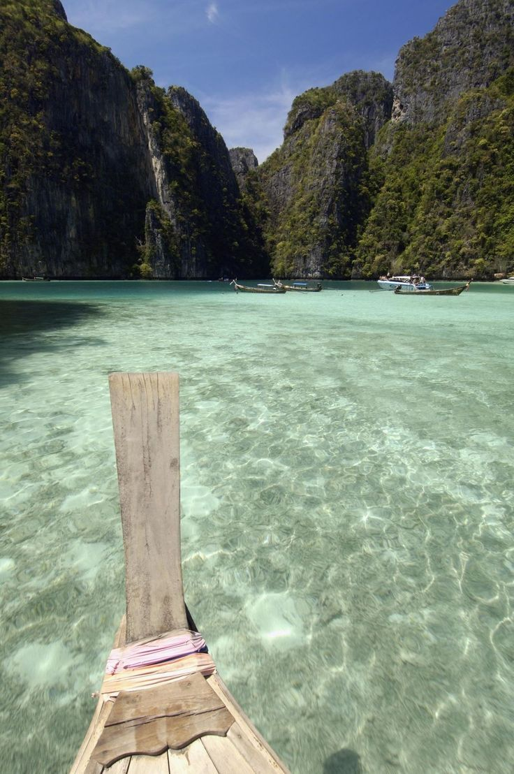 This gorgeous island in Thailand can only be accessed by Ferry, but the crystal clear water is obviously worth the wait.