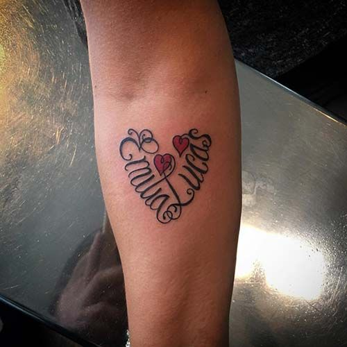 Heart Name Tattoo Kalpli Isim Dövmesi