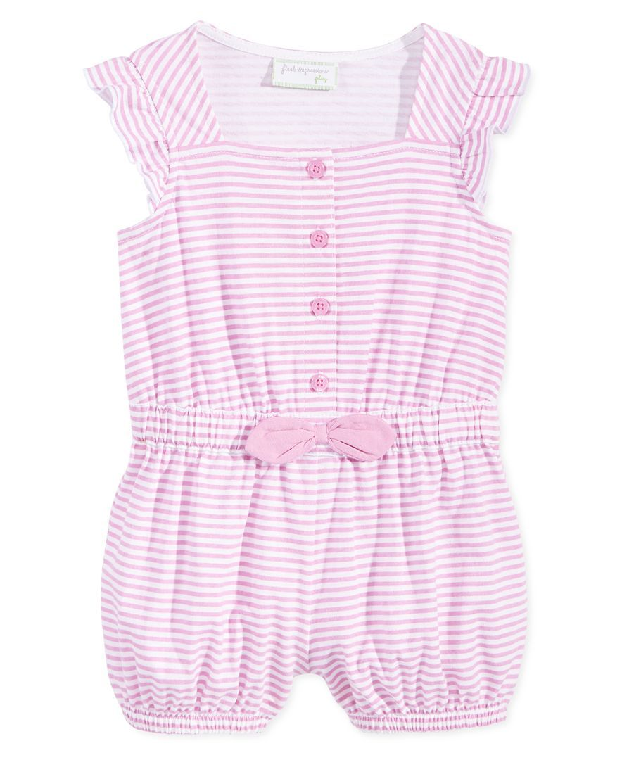 First Impressions Baby Clothes Fair First Impressions Baby Girls' Striped Romper Only At Macy's  Baby Review