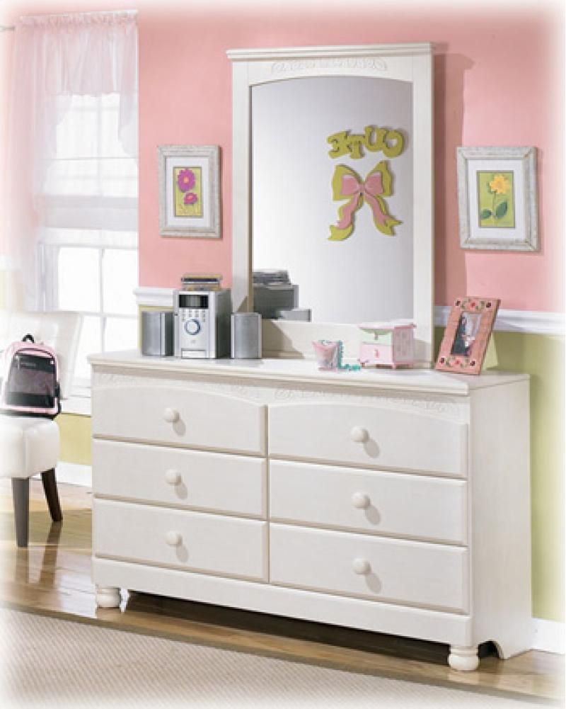 This dresser from Ashley Furniture's Cottage Retreat Collection is a great addition to a girl's room!