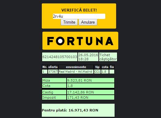 Fortuna Bet Ro