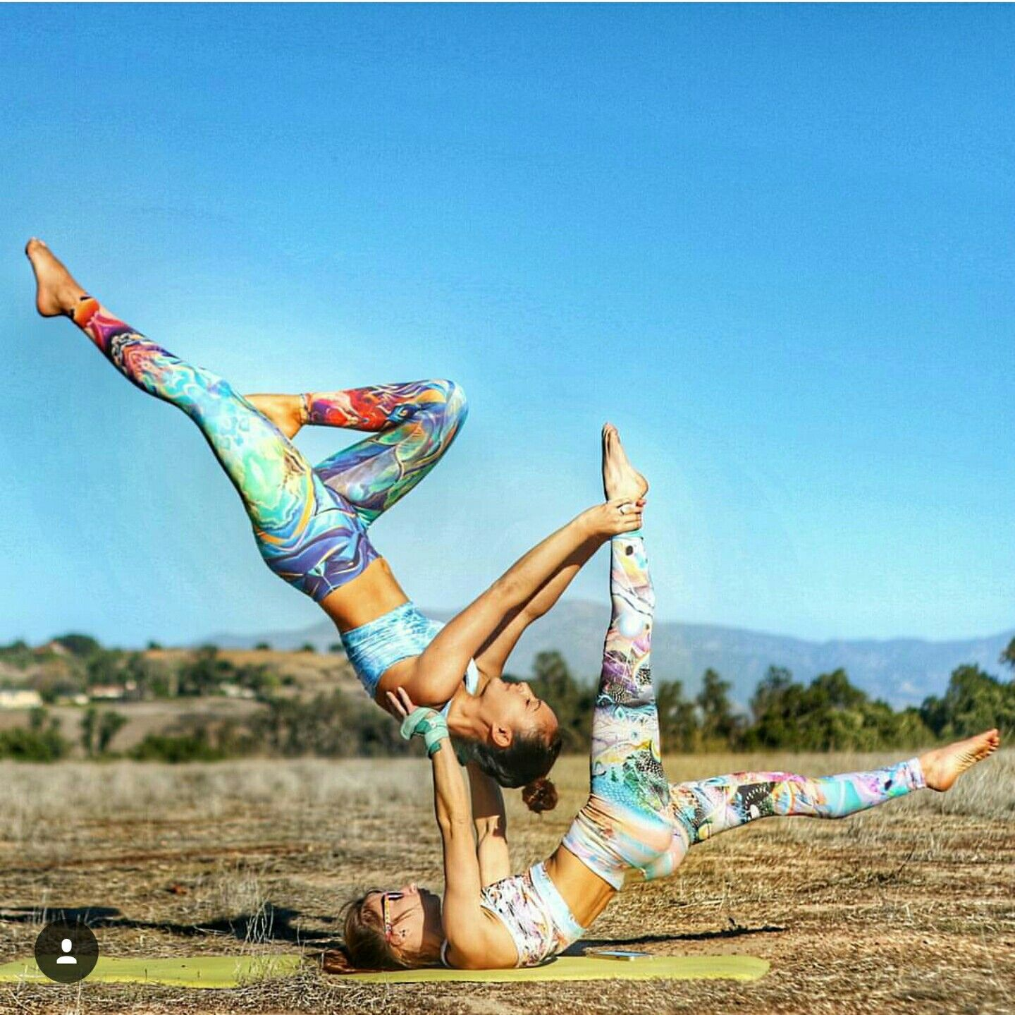 Acro Duo Yoga Pose