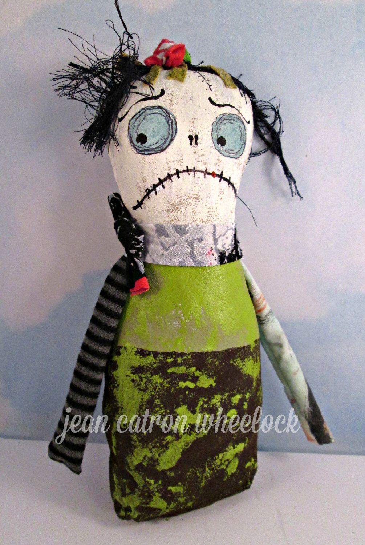 Monster Doll Halloween Art Doll Handmade Folk Art