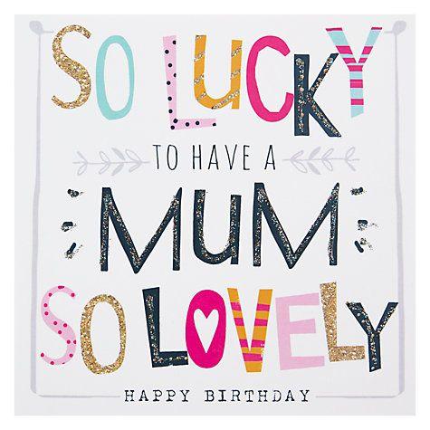 Hammond Gower Mum Words Birthday Card Birthday Cards For Her Birthday Card Online Birthday Greeting Cards