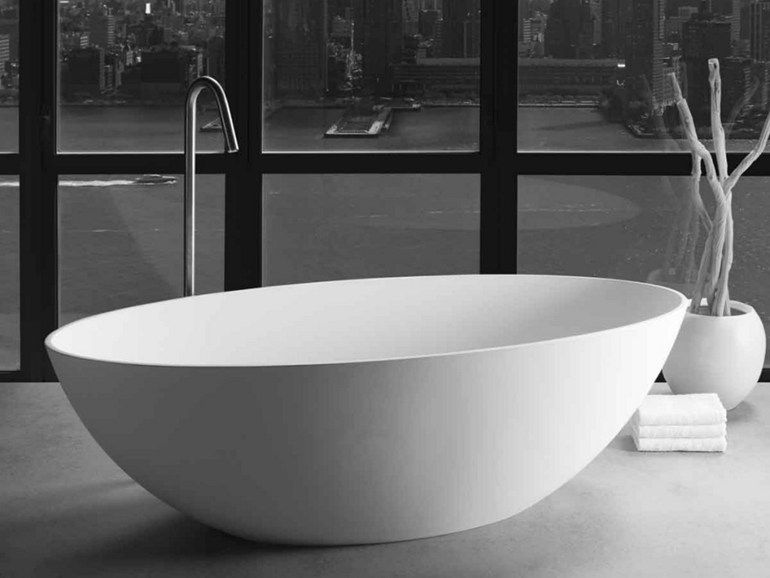 London by jee o vasca da bagno ovale centro stanza in - Vasca da bagno in resina ...