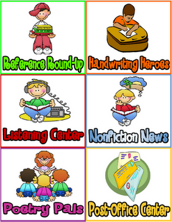 Printable Literacy Work Stations
