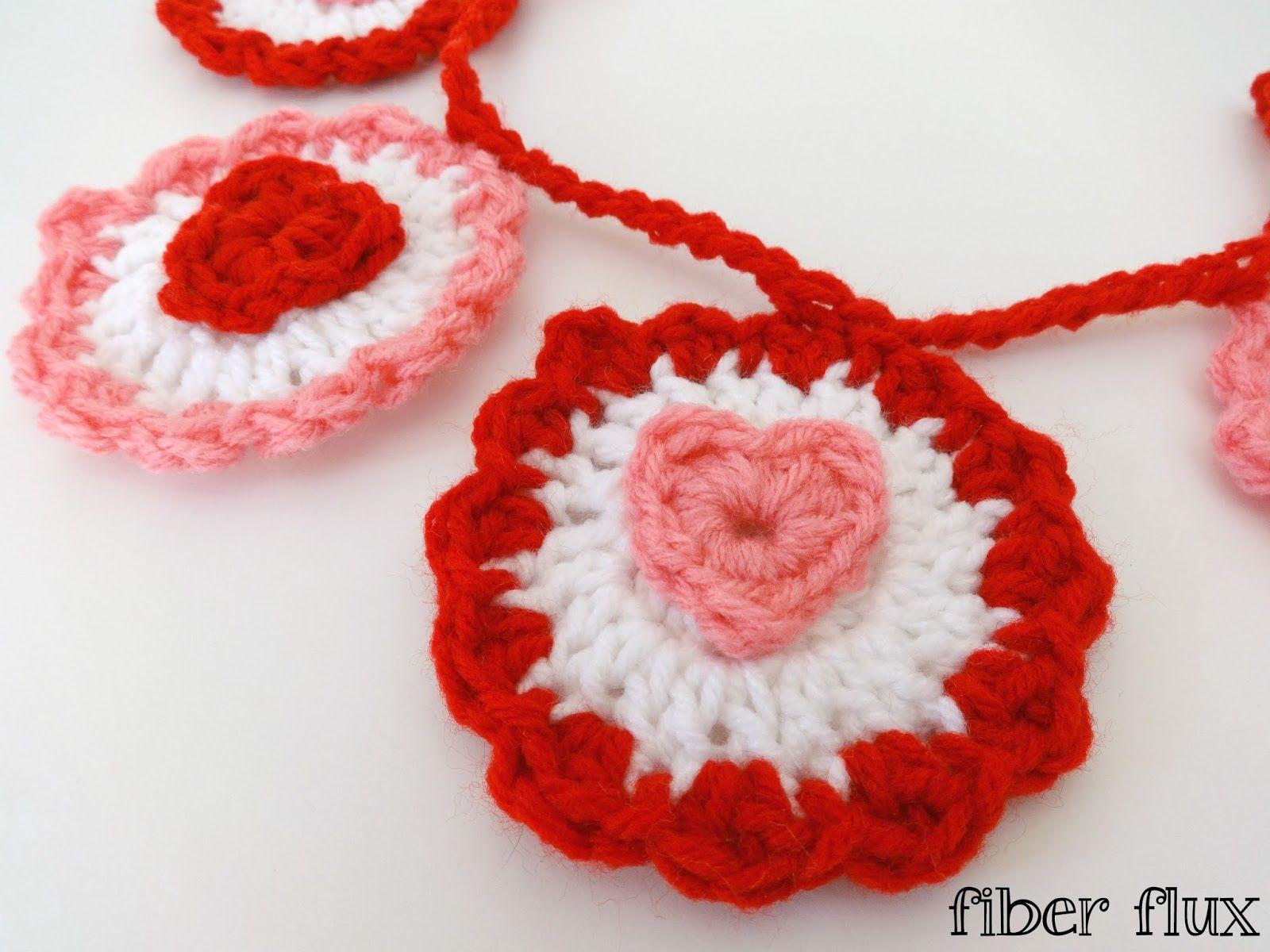 Free Crochet Patternffle Heart Garland Valentines Day