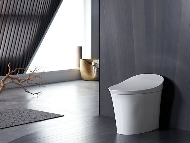 The K 5401 One Piece Toilet Offers Optimum Hygiene And Comfort With Personal Cleansing And A Touchscreen Remote Dual Flush Toilet Kohler Veil One Piece Toilets