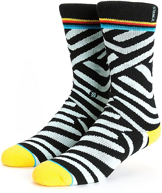 Add some stand out style to your outfits with a blue and mint stripe design with contrasting yellow toes and heels plus a terry looped plush combed cotton construction for cushioning.