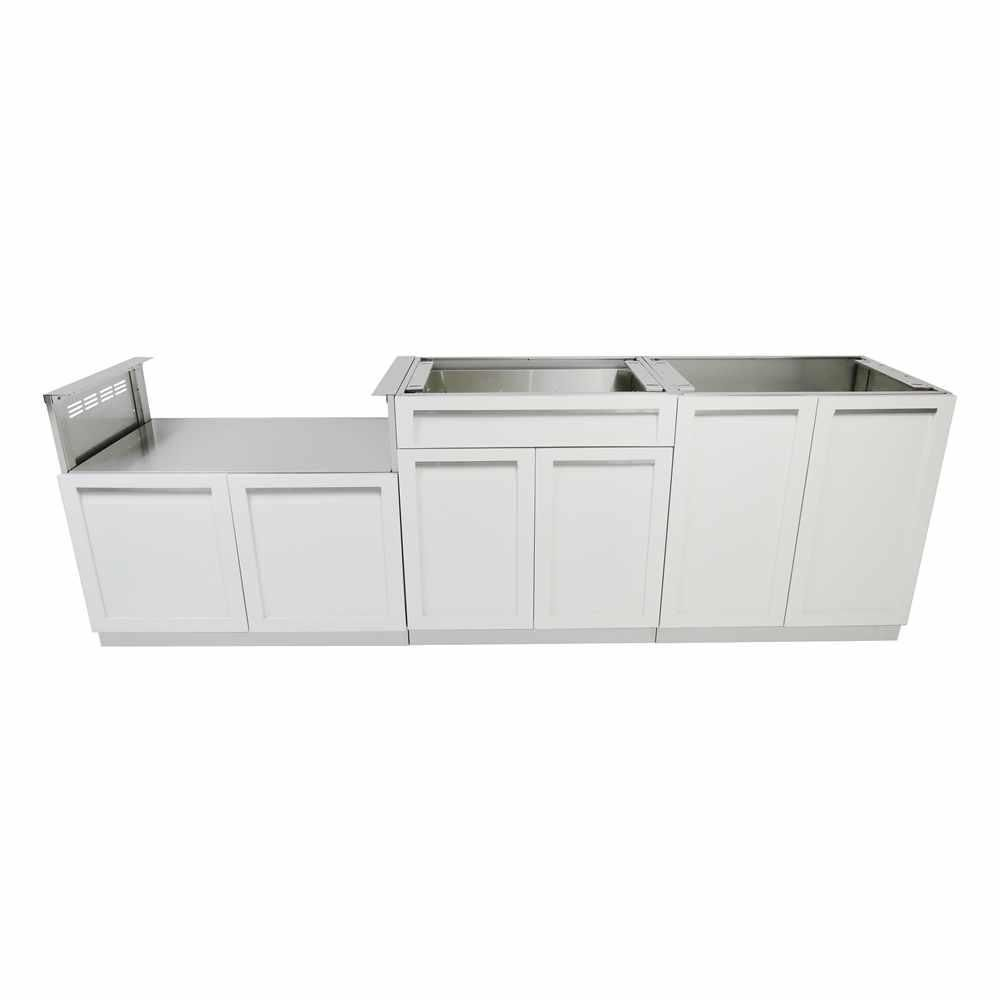 4 Life Outdoor Stainless Steel 3 Piece 104x35x22 5 In