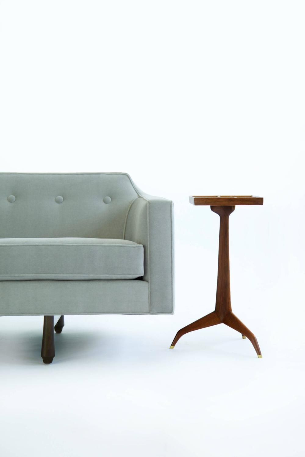 unusual chair legs fox accessories beautiful button tufting and sculptural on a mid century modern sofa