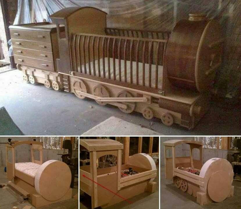 Train cot binnehuis versiering argitektuur pinterest cots - Cots for small spaces plan ...