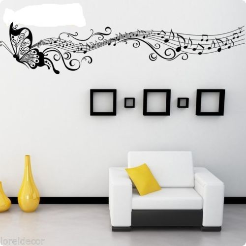 Pegatina Decorativa Mariposa Musical Med45 200cm Pegatinas Decorativas De Musica Le Etiquetas De Pared De Vinilo Decoracion De Interiores Decoracion De Pared