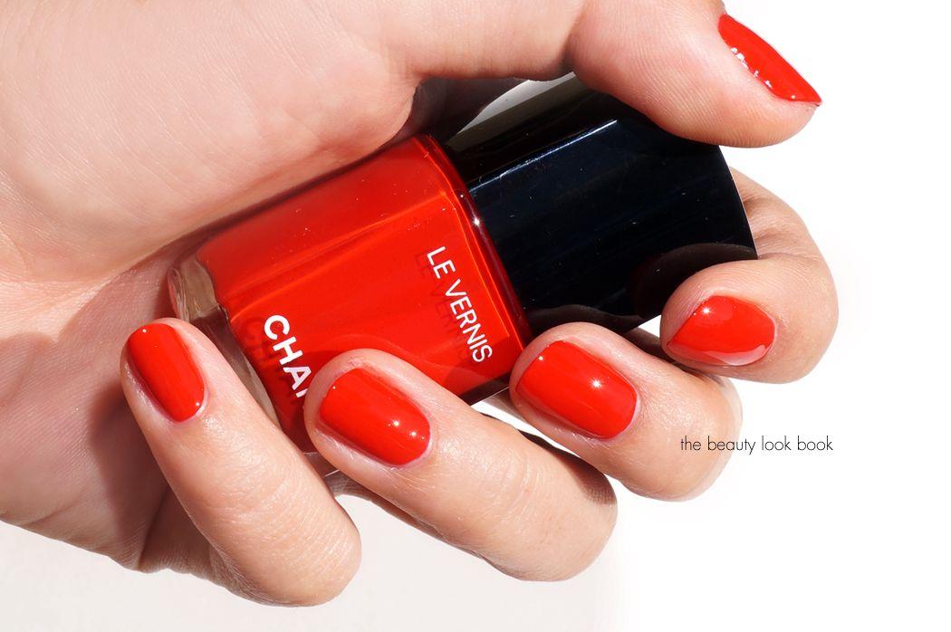 Chanel Le Vernis: Gitane .., an electric warm red nail polish. A ...