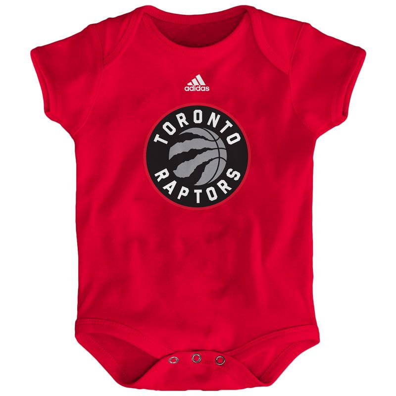 Toronto Raptors adidas Newborn Primary Logo Bodysuit - Red -