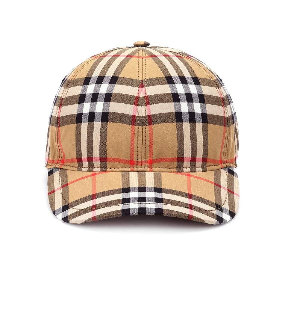 BURBERRY Vintage Check cotton baseball cap.  burberry    346835d2d57