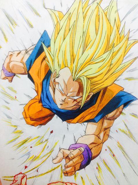 Goku悟空 超サイヤ人3モンチのイラスト Pixiv