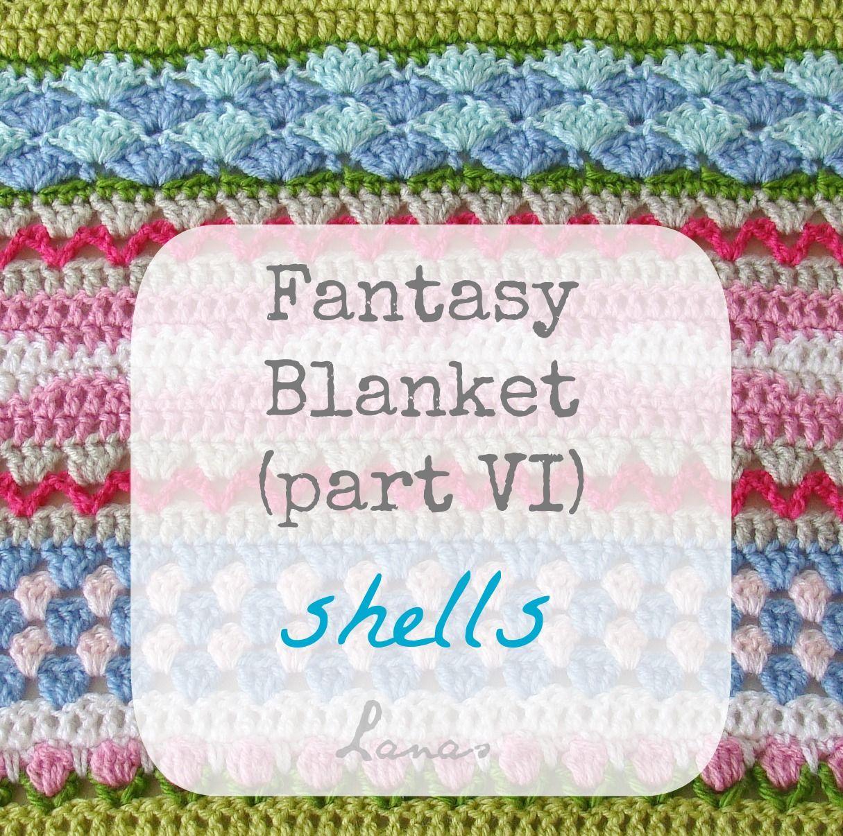 Lanas de Ana: Fantasy Blanket: Shells (VI) | Craft - Crochet Afghans ...