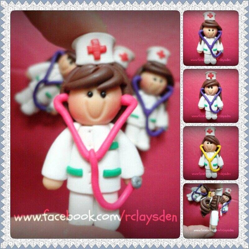 Nurse chibi/clay dolls www.facebook.com/rclaysden