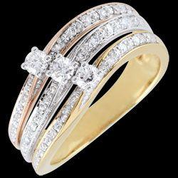 Bague Trilogie diamant 3 ors Elia - 0.372 carat 950 € (-57%)