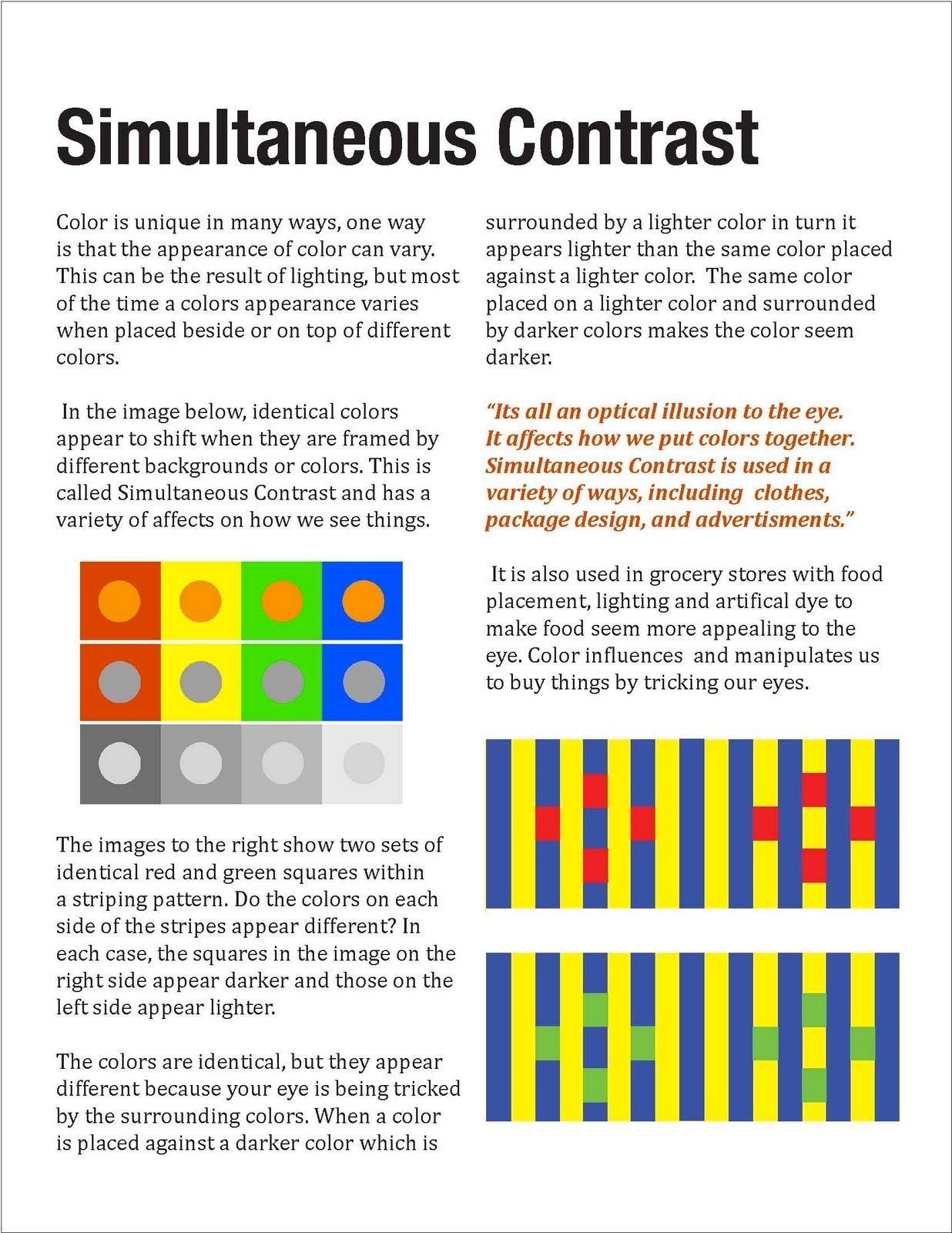 Color Theory Simultaneous Contrast