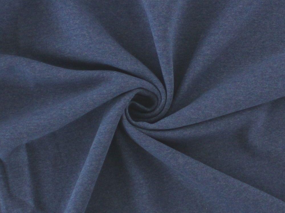 Sweatshirt angeraut, jeansblau-meliert, 8650-006,  bei stoffe-hemmers.de, Hochwertiger Sweatshirtstoff in weichfließender und warmer Qualität,