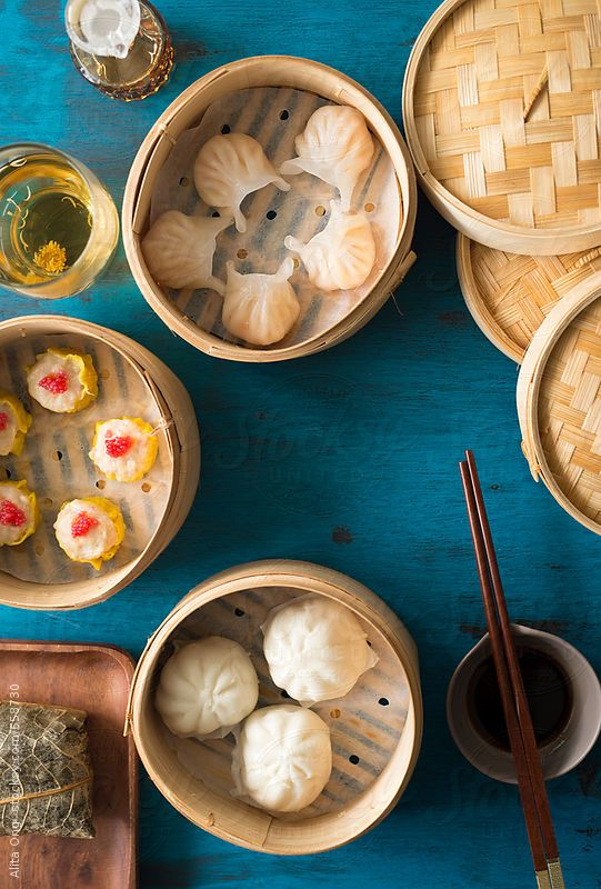 Dim Sum On Rustic Blue Background By Alita Ong Best Chinese Food Dim Sum Aesthetic Food