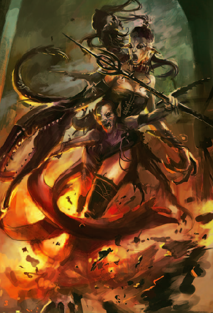 The Lady of the Voids  A type of Slaaneshi daemon that is a