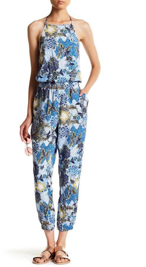 de9d8862114d BB Dakota Garnett Floral Halter Jumpsuit