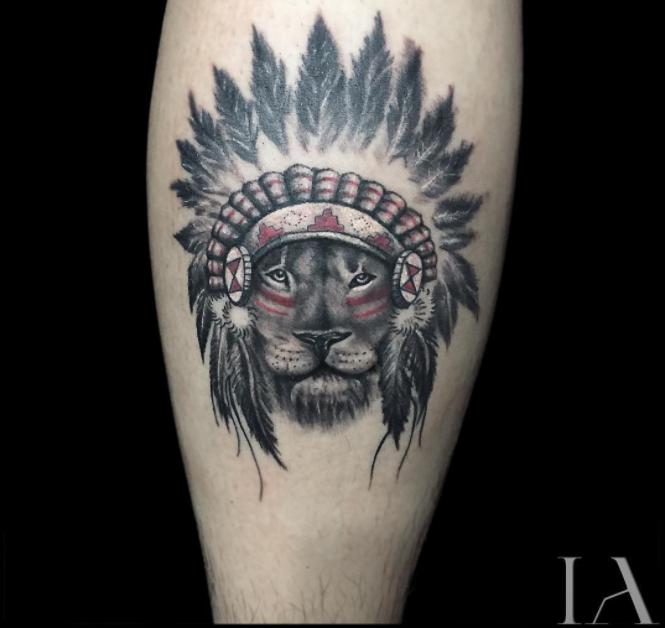 Indian Lion Tattoo Lion tattoo, Simple lion tattoo, Tattoos
