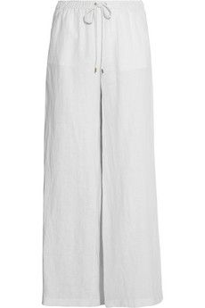 MICHAEL Michael Kors Linen wide-leg pants   NET-A-PORTER