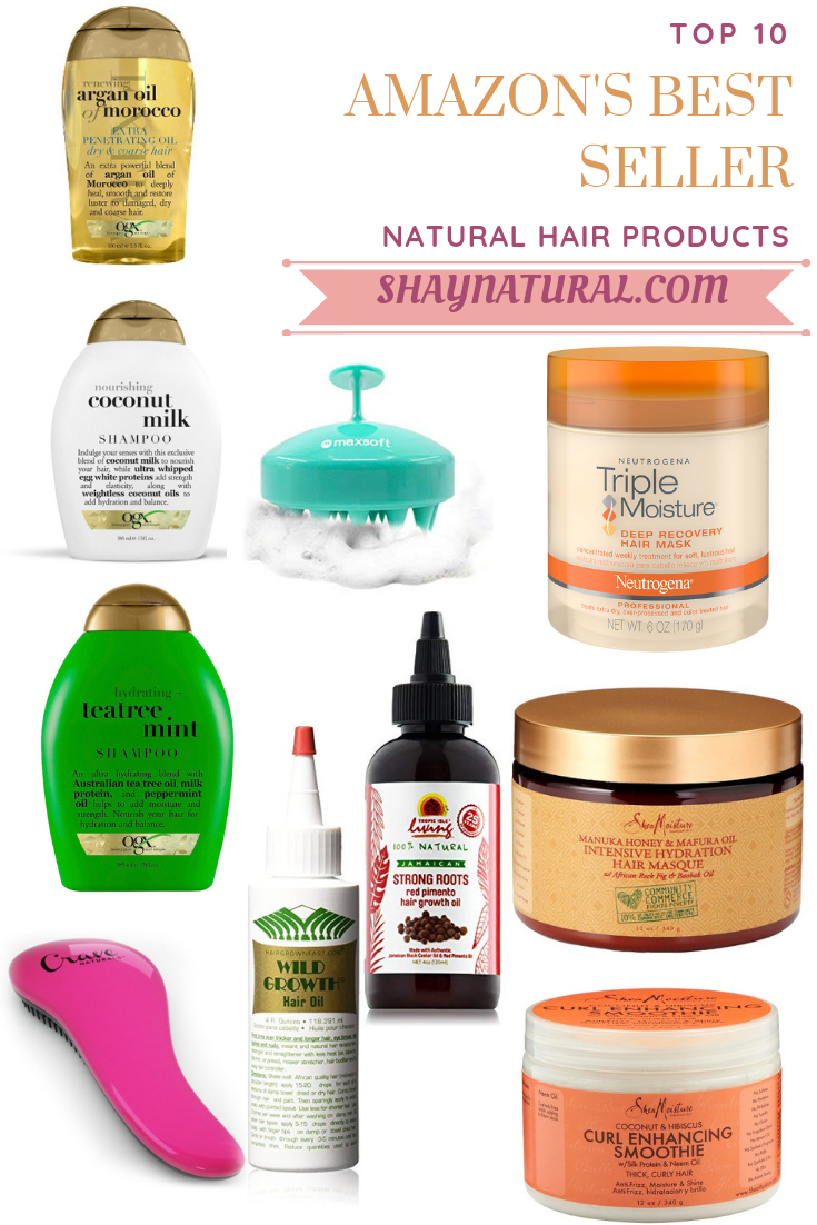 Top 10 Amazon's Best Seller Natural Hair Products #naturalhaircareproducts