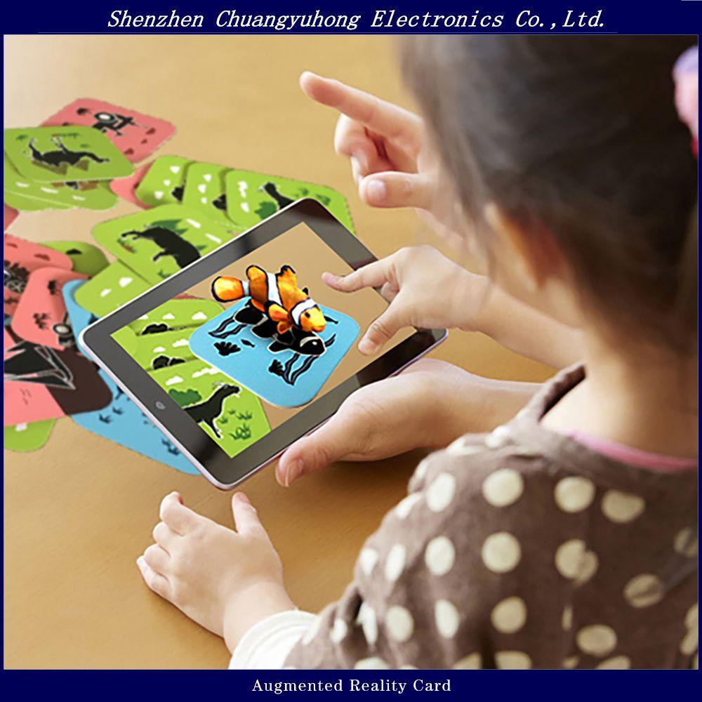3D AR Animal Flash Cards Preschool Educational Toys For