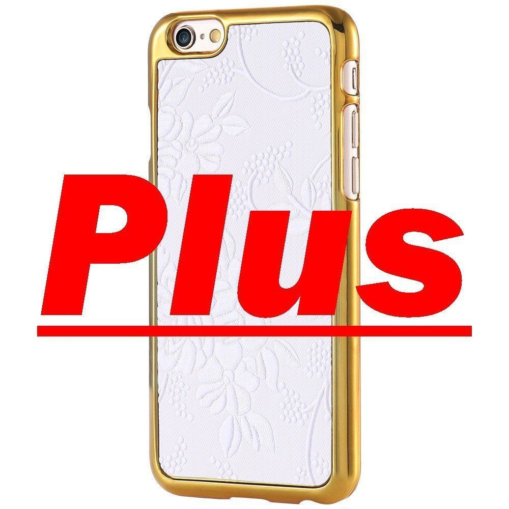 FLOVEME Retro 3D Touch Back Phone Cover Case for iPhone 6 Plus