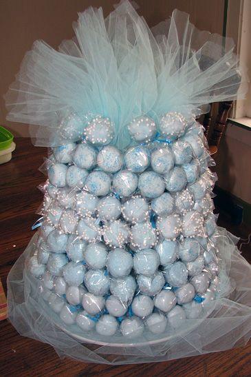Baby Shower Cake Ball Cake - AllThatScrap