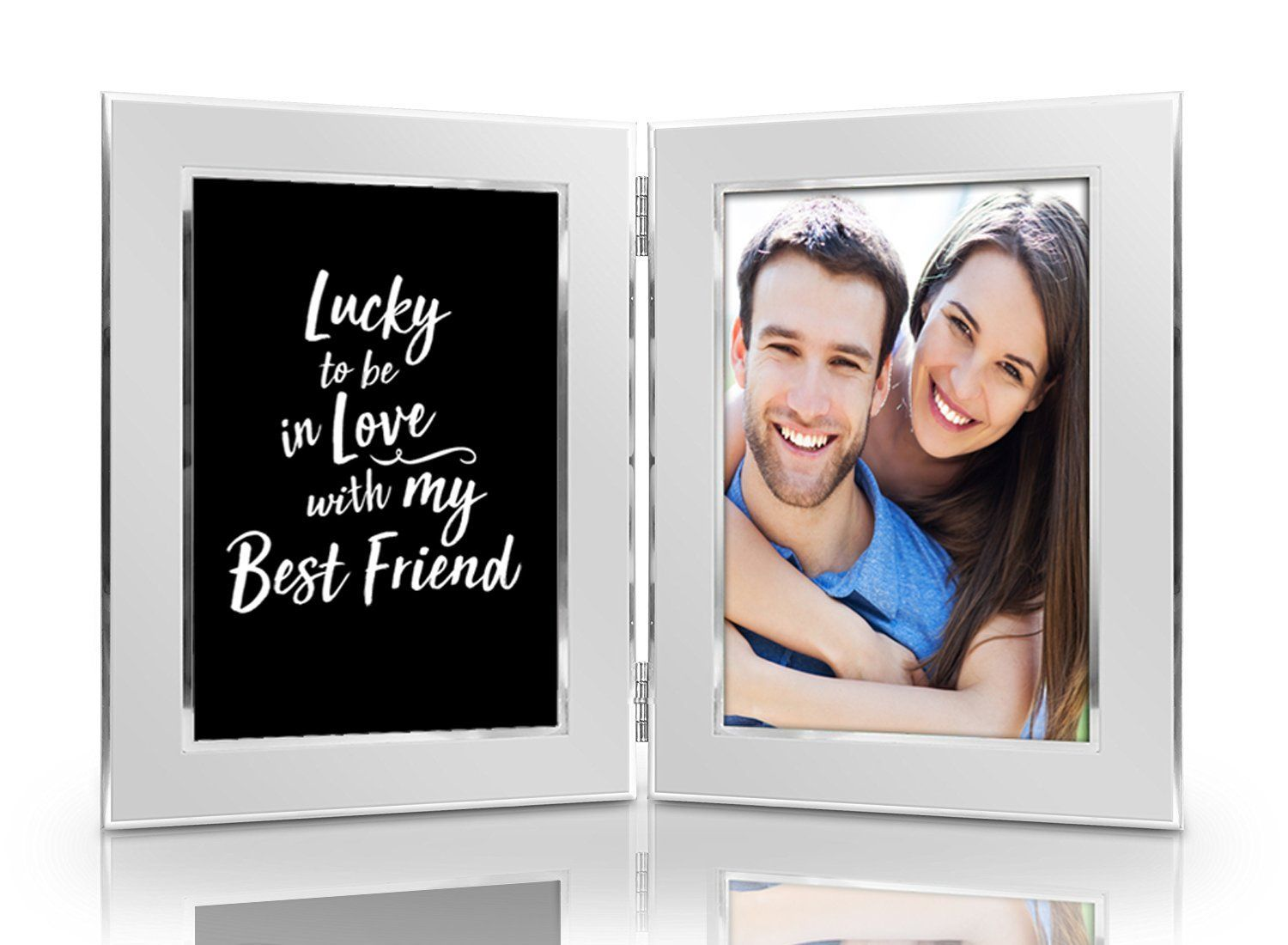 Lucky to be In Love with My Best Friend Picture Frame Set - Premium ...