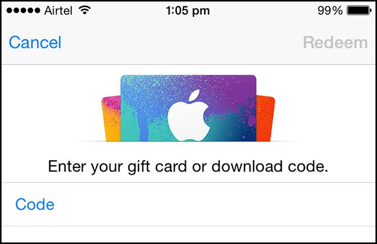 How to redeem app store and itunes gift card itunes gift