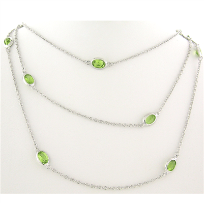 Oval Peridot Stones by the Yard sterling and peridot paradisojewelry.com wholesale sterling and genuine gemstones