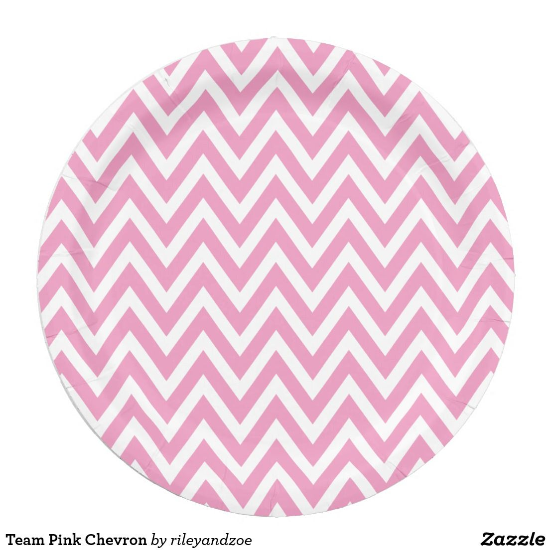 Team Pink Chevron Paper Plate Custom designed paper party plates with a chic preppy zigzag chevron  sc 1 st  Pinterest & Team Pink Chevron Paper Plate | Chevron paper