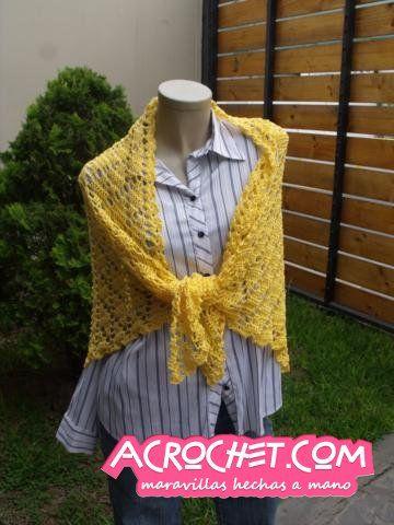 Un chal con rombos | Blog a Crochet - ACrochet | tejidos a crochet ...