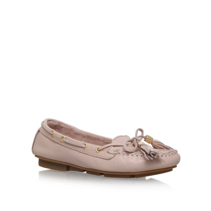 Lyst - Carvela Kurt Geiger Ladder Nude Leather Loafer Flat