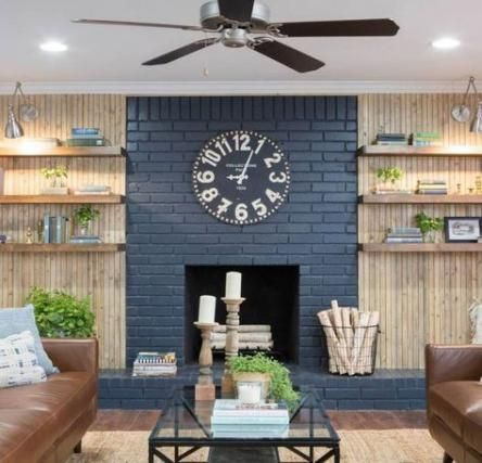 Farmhouse Style Living Room Joanna Gaines Fireplaces 48