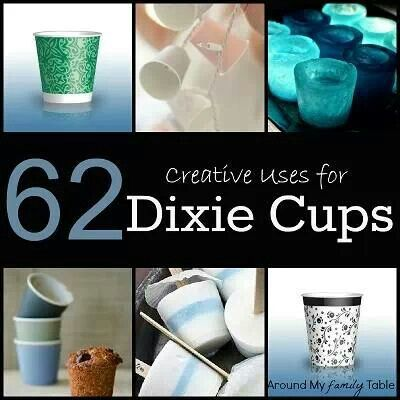 Uses for Dixie cups