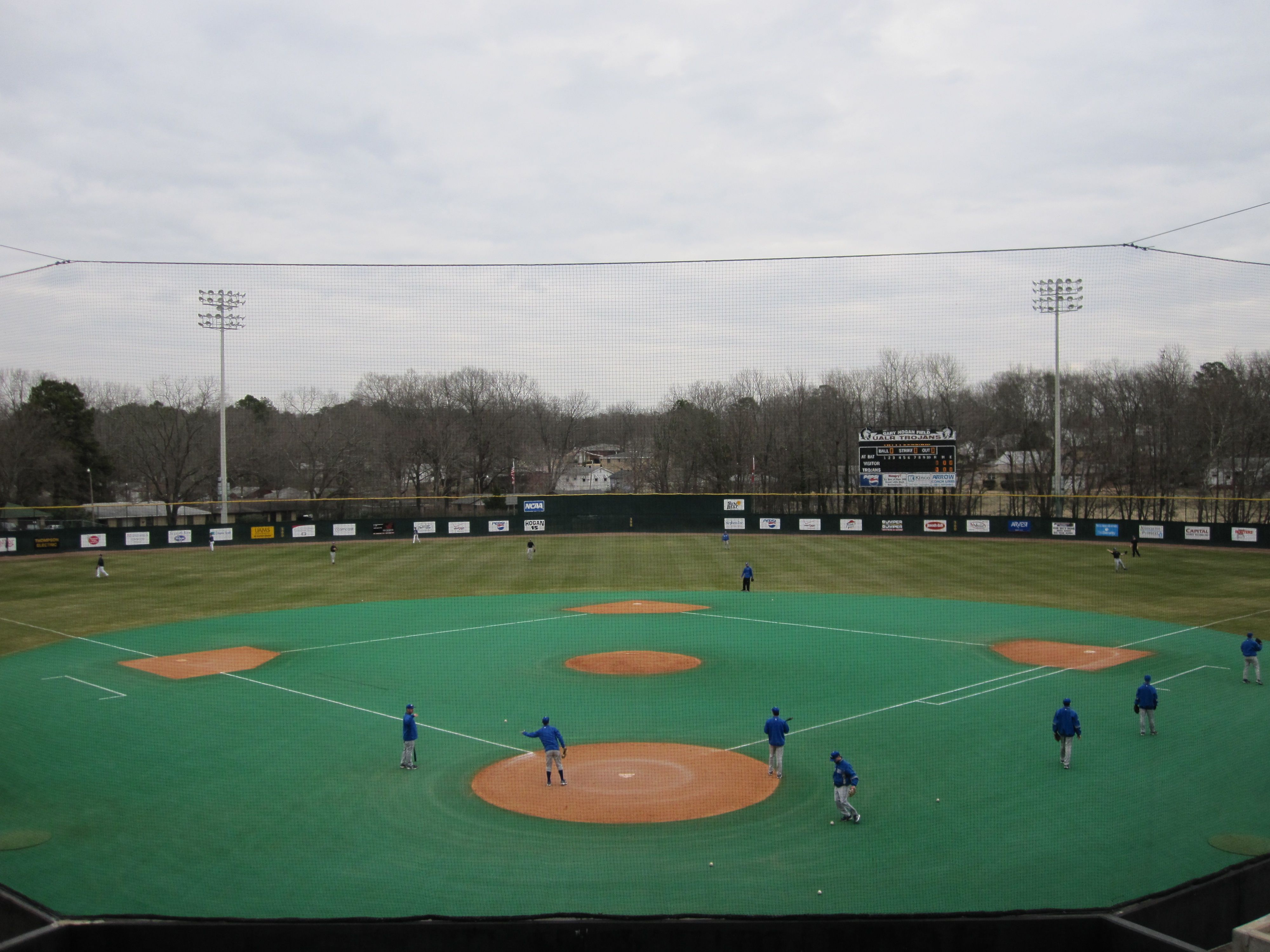 Gary Hogan Field Home Of The Ualr Trojans Field College Baseball Baseball Field