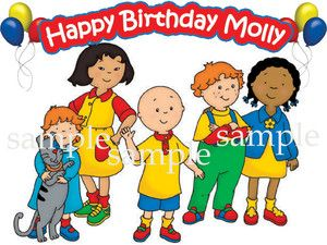 New Caillou Edible Cake Decoration Image Icing Topper Party eBay