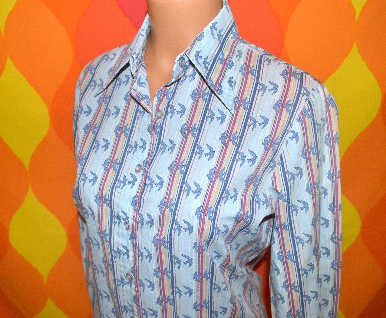 Striped Shirt Button Down Shirt. Vintage 80/'s Bonjour Shirt Pink and White Striped Blouse Vintage Blouse