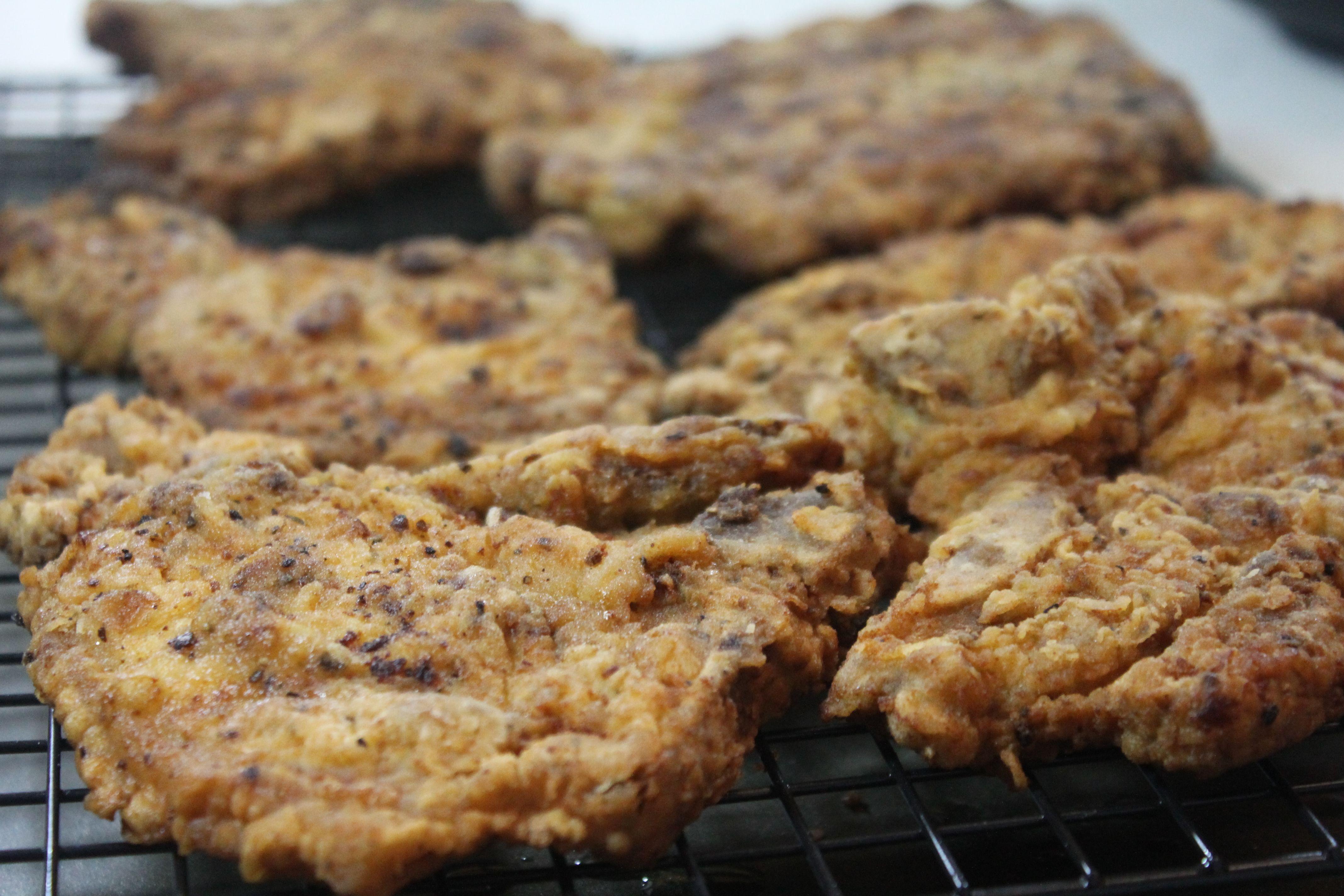 Crispy Southern Fried Pork Chops. Super easy recipe, using minimal ingredients!