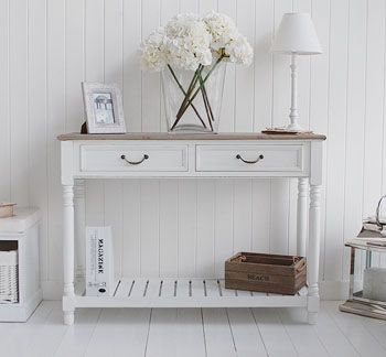 White Hallway Console Table the provence white console table as hall furniture or living room