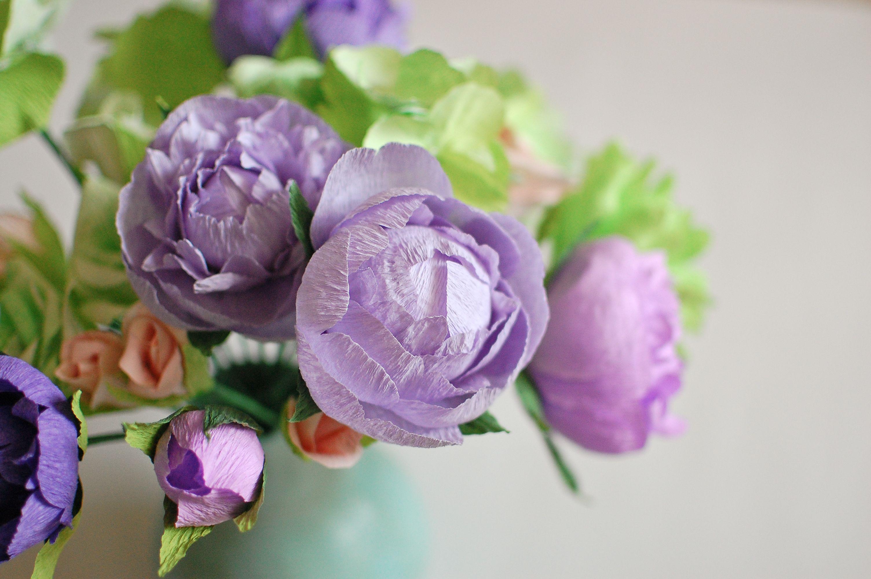 Diy Paper Flowers Lilac Peonies Paper Flowers Peonies
